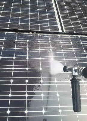和光市 太陽光パネル 高圧洗浄