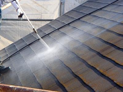 春日部市屋根高圧洗浄