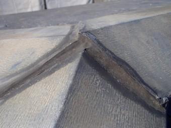 屋根塗装前 かき合い