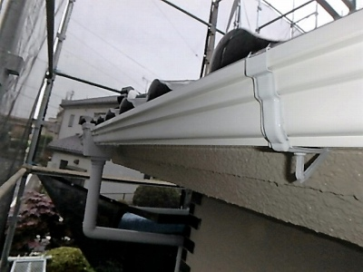 雨樋部分の補修完了