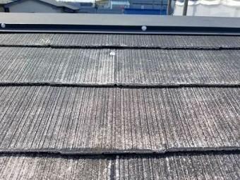 朝霞市 屋根塗装 途中の様子
