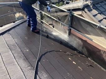 川越市 屋根塗装 高圧洗浄