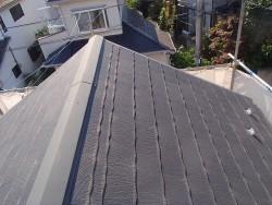 屋根塗装完成前の状態
