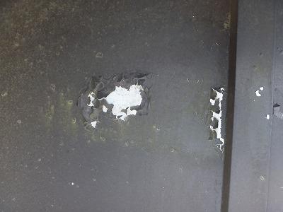 トタン屋根剥離