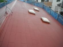屋根の塗装上塗り完了しました