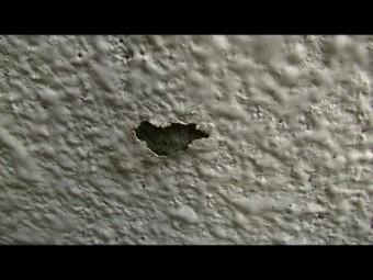 東面の塗膜の剥離