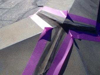 屋根塗装 かきあいコーキング補修養生