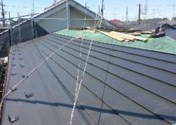 さいたま市西区 屋根カバー工法 ガルバリウム鋼板