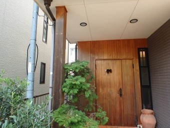 ドア、玄関、施工前