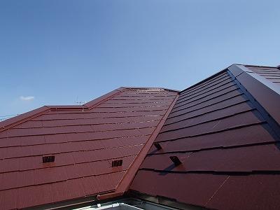 屋根の補修後の画像です