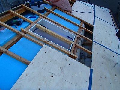 新座市 耐水べニア板 屋根葺き替え