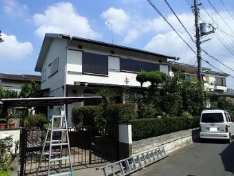 塗装後の家の全景です