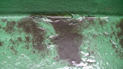 ベランダの床が変色