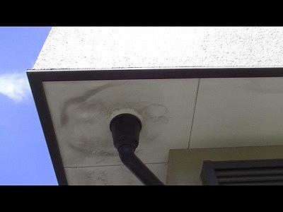 軒天部分に雨染みが発生 埼玉 補修