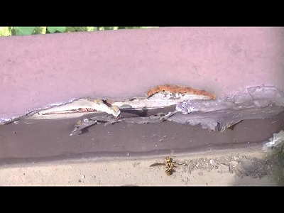 トタン屋根の内部木部が傷んでいる