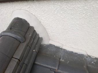 白岡市 屋根漆喰詰め直し
