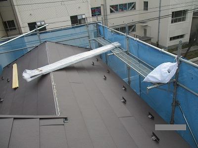 さいたま市中央区 屋根カバー 棟板金