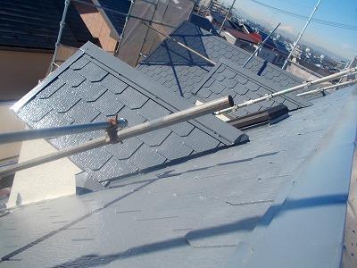 さいたま市中央区、屋根中塗り、外壁塗装、屋根漆喰補修