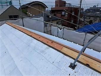 蕨市 屋根 棟板金