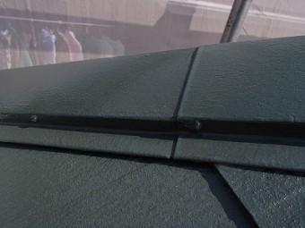 屋根棟板金部分塗装完了写真