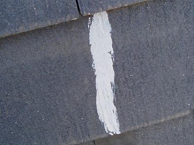 上尾市で屋根補修 スレートのヒビ補修後