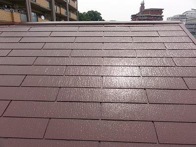 朝霞市屋根中塗り
