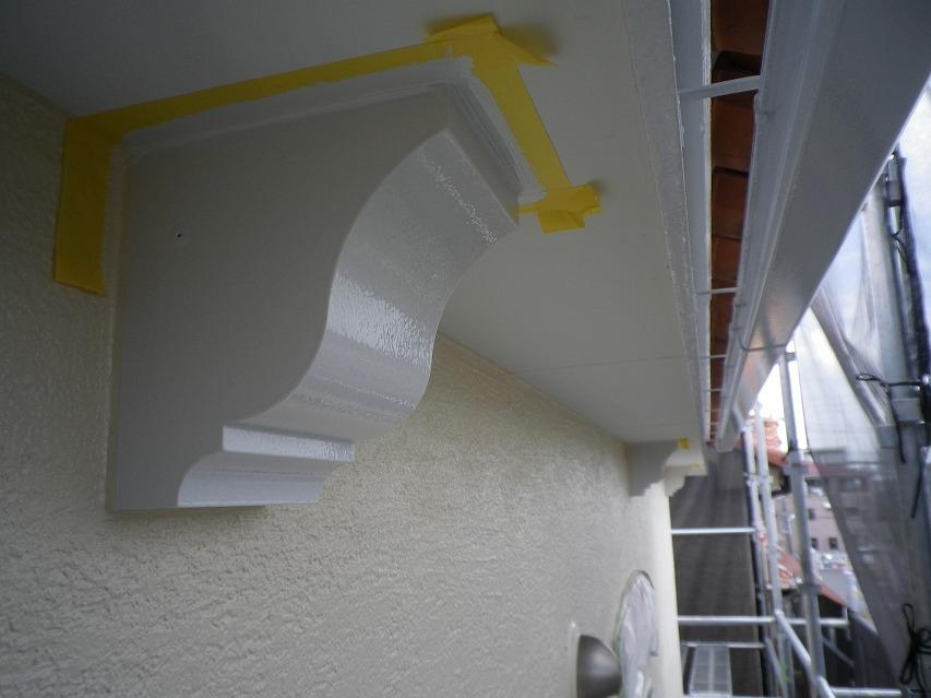軒天部分塗装後