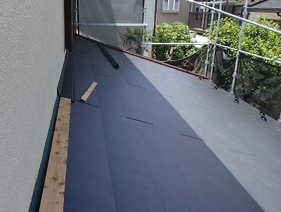 さいたま市西区 下屋根 カバー工法