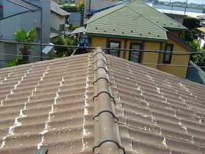 何もしていない状態の屋根