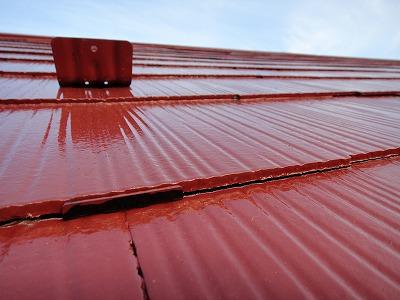 縁切が行われている屋根