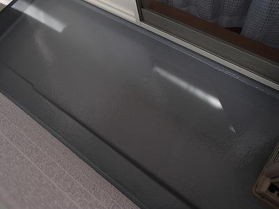ベランダの床面防水塗装後の写真です