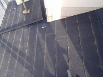 下屋根部分の塗装前の状態