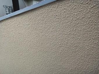 外壁のヒビが消えt