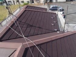 屋根の補修前画像です