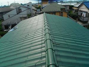 屋根の上塗り完成