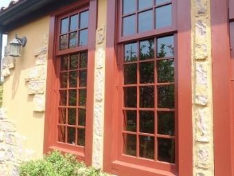 窓枠の塗装後