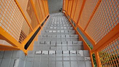 階段床面塗装前