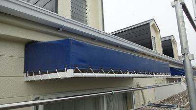 ビニール屋根部分鉄部塗装しました