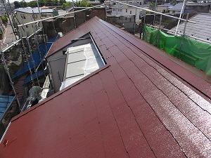 屋根の塗装完成の状態です