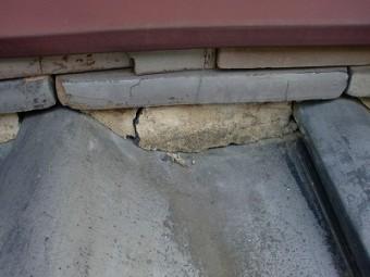 上尾市で屋根漆喰の補修