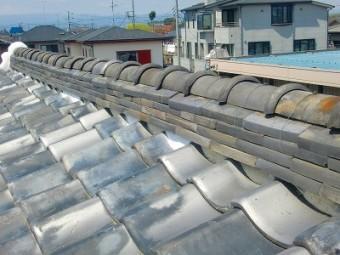 上尾市で屋根漆喰の補修後
