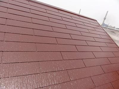 朝霞市屋根塗装後