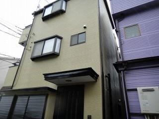 埼玉県にて外壁塗装の跡の写真です