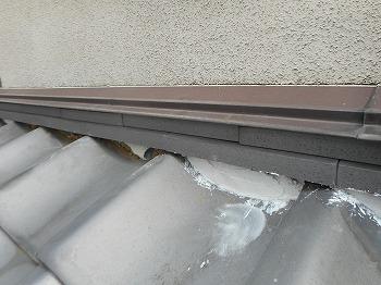 川口市 屋根漆喰詰め直し