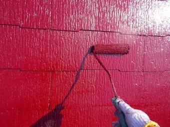 さいたま市緑区 屋根塗装 三度塗り
