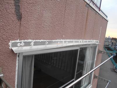 雨漏り箇所サッシ