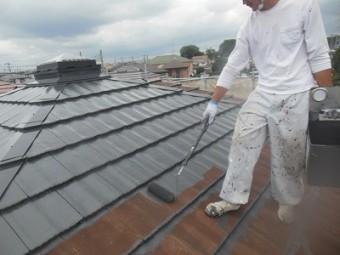 上尾 屋根中塗り
