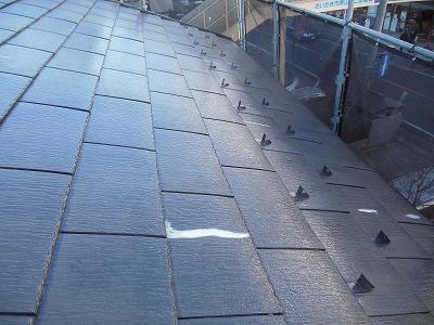屋根 下塗り完成