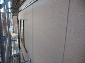 外壁塗装の完成の様子