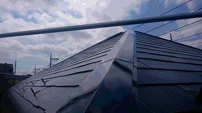 富士見市 屋根塗装後